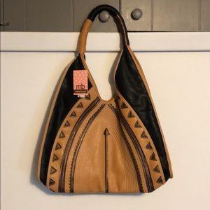 Black/tan melie bianco purse